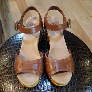 b1f063caabe Ugg Wood Block Heel Sandals - Great Condition!